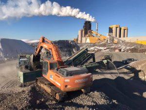 Contrat de concassage chez Ciment Québec pour 20 000 tonnes