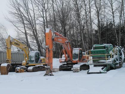 Excavation d'hiver