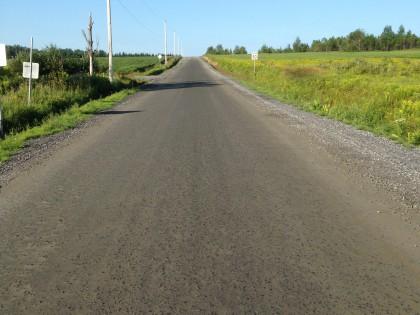 Renchaussage final de la route Drouin à St-Ubalde
