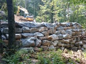 Préparation de fondation et de mur de soutènement