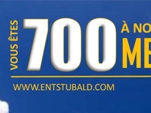 700 abonnés sur Facebook!